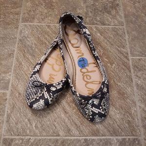 Sam edelman felicia snakeskin ballet flats